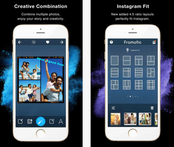 Framatic is a quick and easy editing tool for Instagram