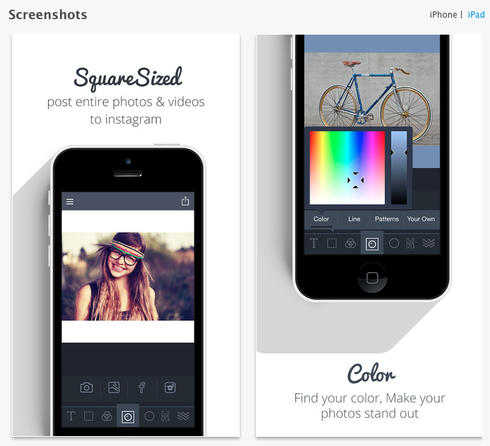 Square Sized is a straightforward Instagram app for resizing photos
