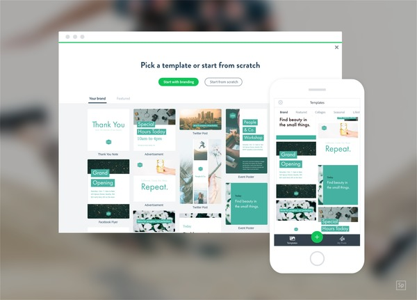 adobe spark social media graphic templates