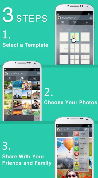 Lipix is one of the easiest Instagram apps for collage-making