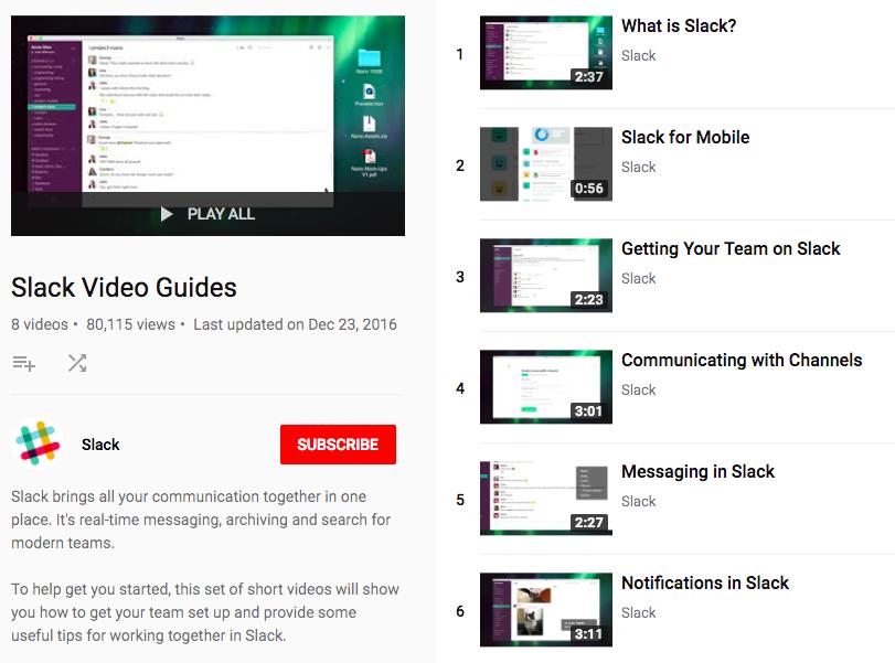 slack tutorials