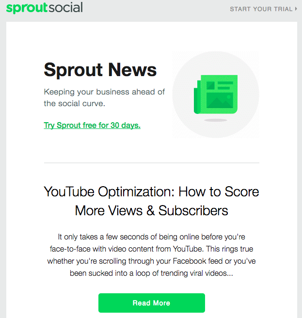 sprout social newsletter
