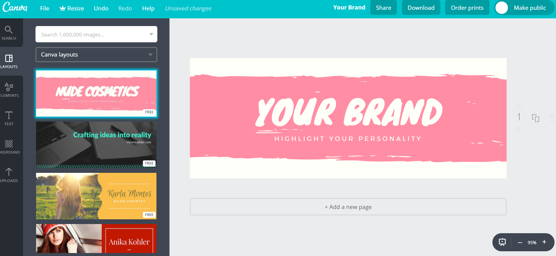 Canva lets users design creative, high-res cover photos on Facebook