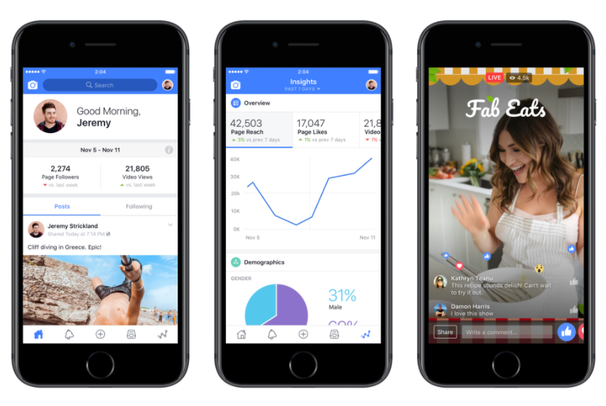 Facebook's Creator Studio is tailor made for marketers focused on live video