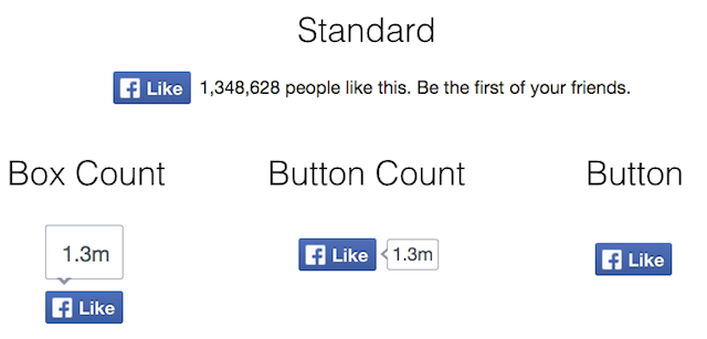 "Selection of Facebook ""Like"" buttons"