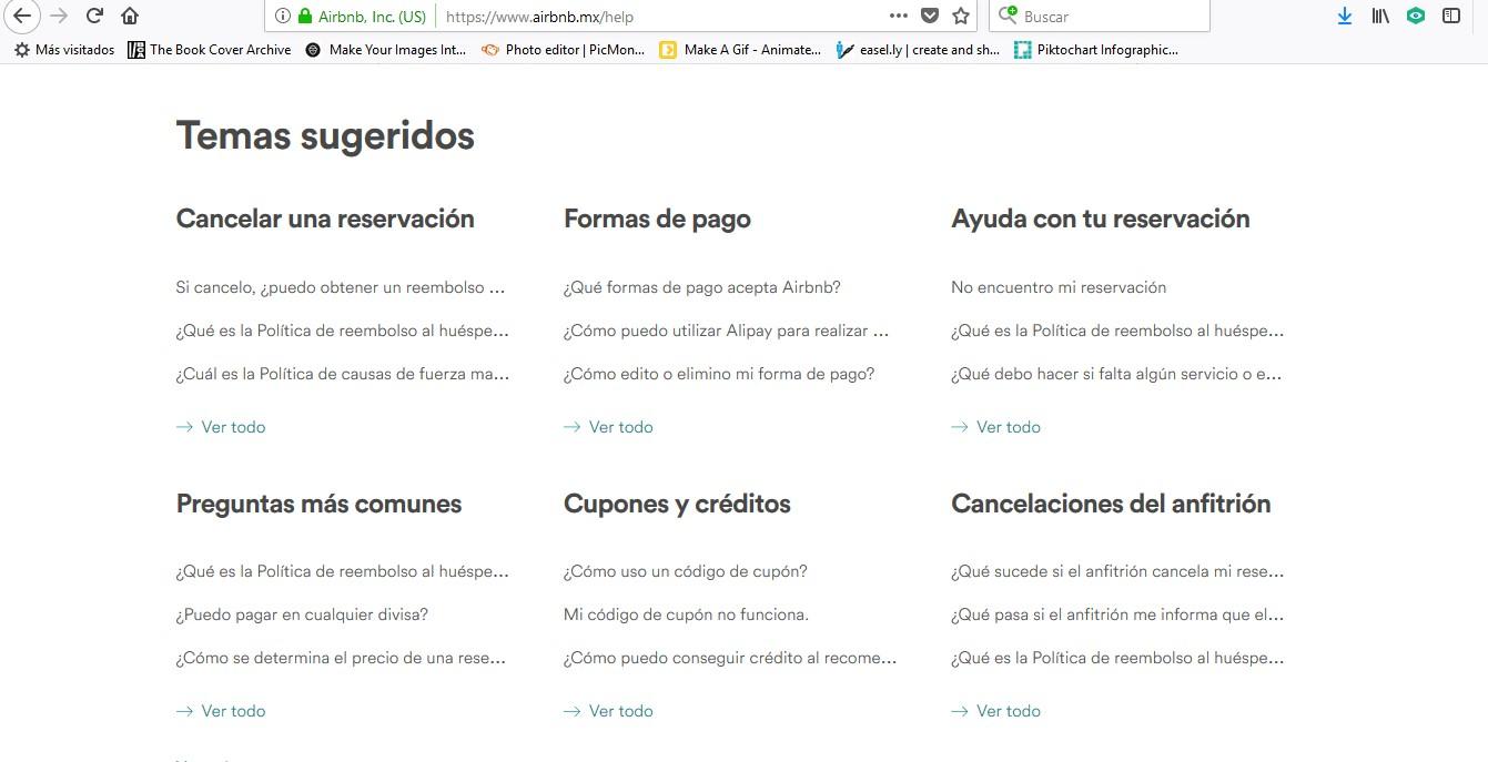 Preguntas frecuentes para usuarios de Airbnb México.