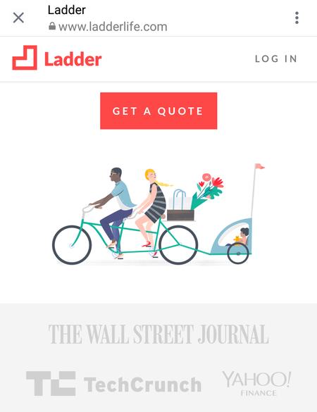 ladder instagram landing page