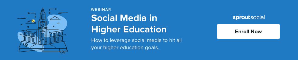 higher ed social webinar
