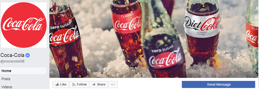 Coca-Cola Facebook cover photo and banner