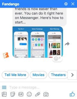 chatbot di fandango