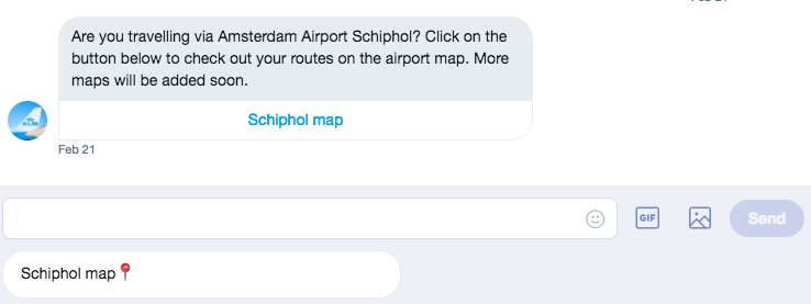 royal dutch airlines twitter chatbot