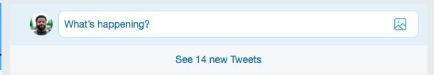 new tweets in timeline