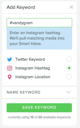 smart inbox instagram keyword