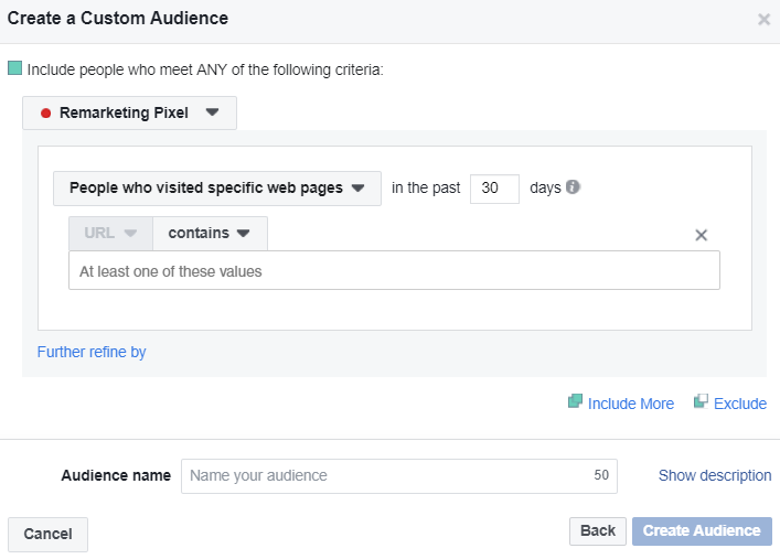 Facebook's Pixel allows you to target specific visitors from your website