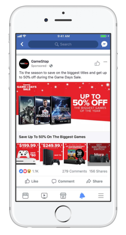 "Facebook ads are perfect for deal-based campaigns considering that Facebook would prefer brands to avoid coming off as too ""salesy"""
