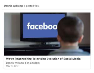 Dennis Williams LinkedIn Example