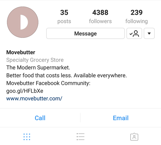movebutter instagram business profile