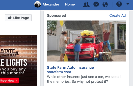 facebook right column ad