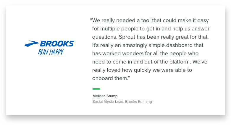 Brooks Running pull quote