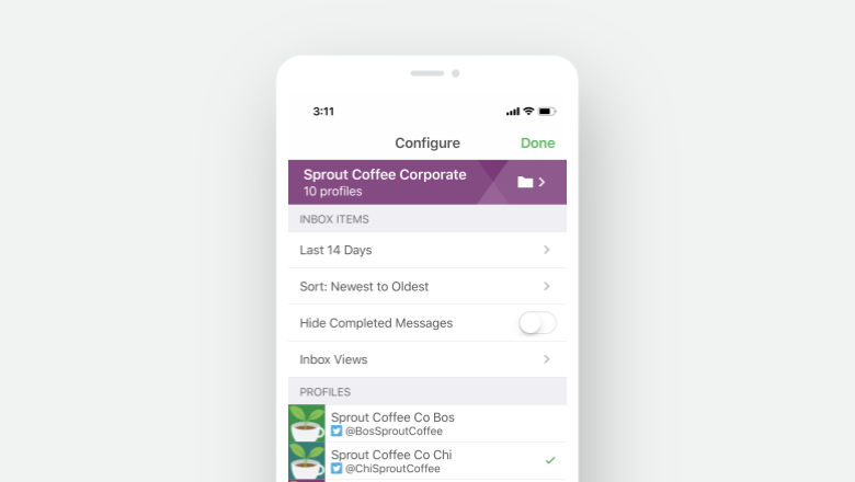 Inbox Views on Mobile