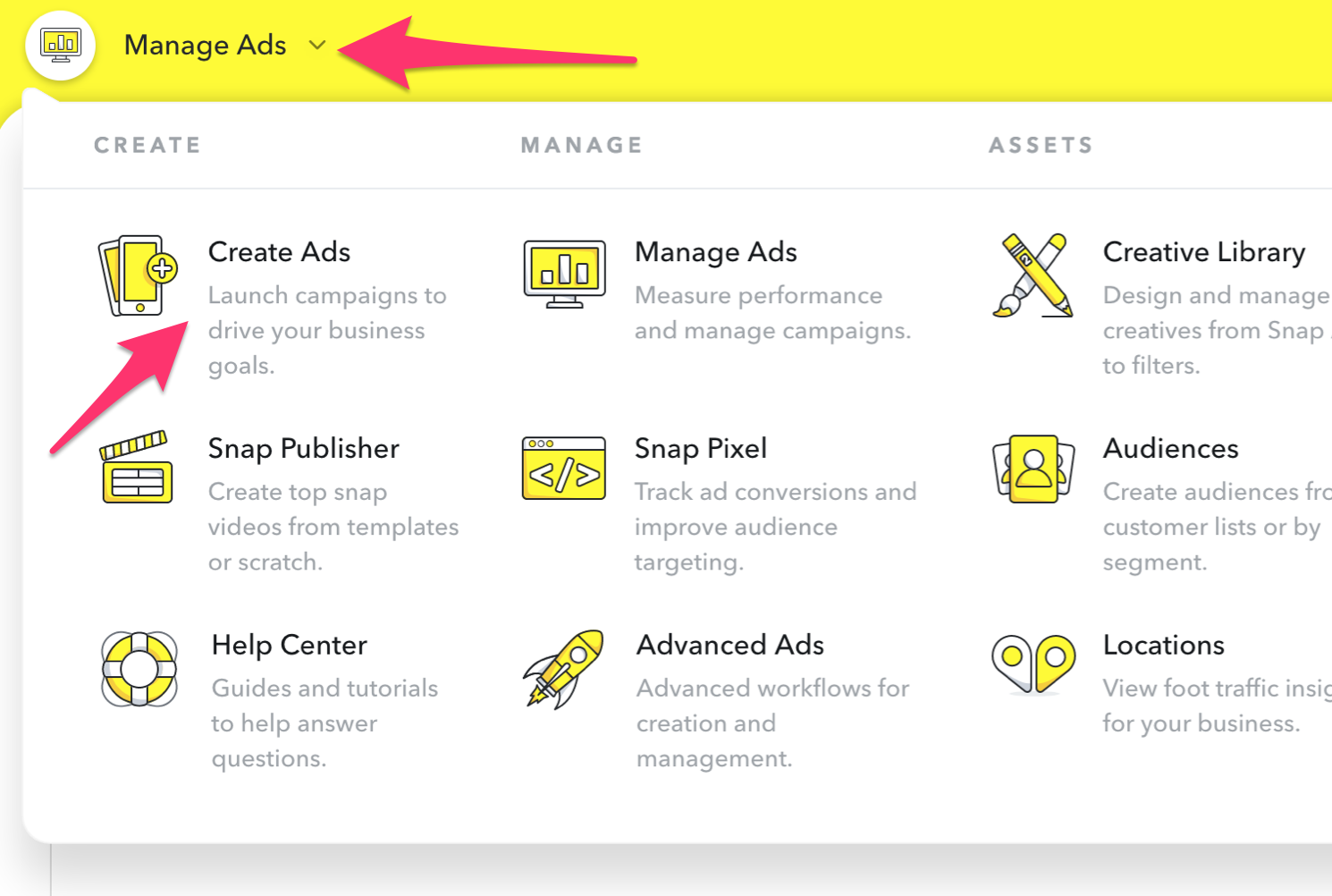 Create an ad in Snapchat