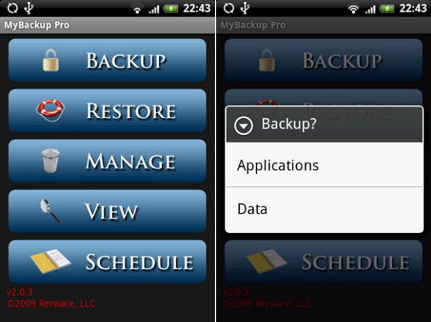Ejemplo de Mybackup Pro.