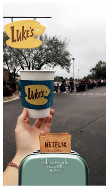 Netflix Snapchat ad