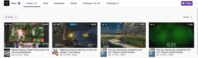 Razer Twitch Channel