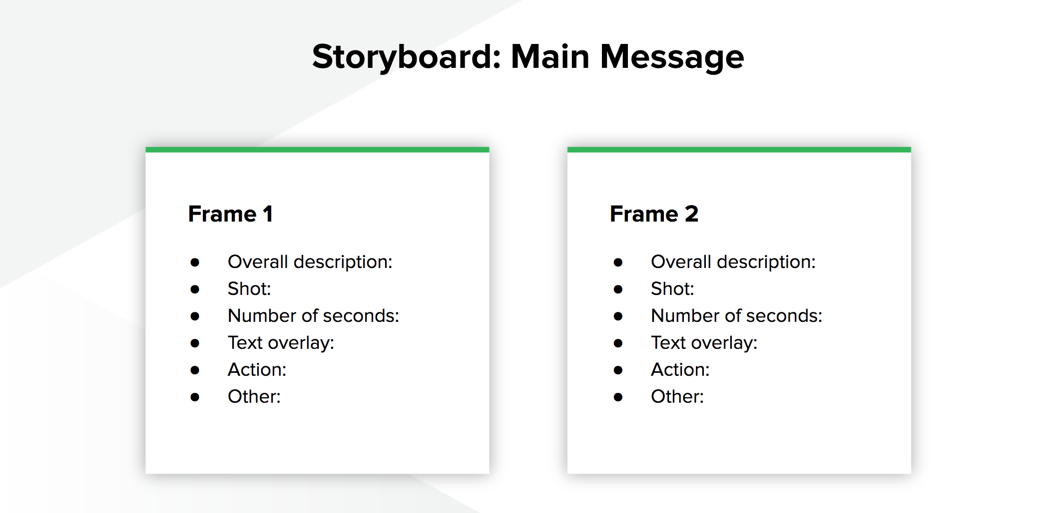 Storyboard Main Message