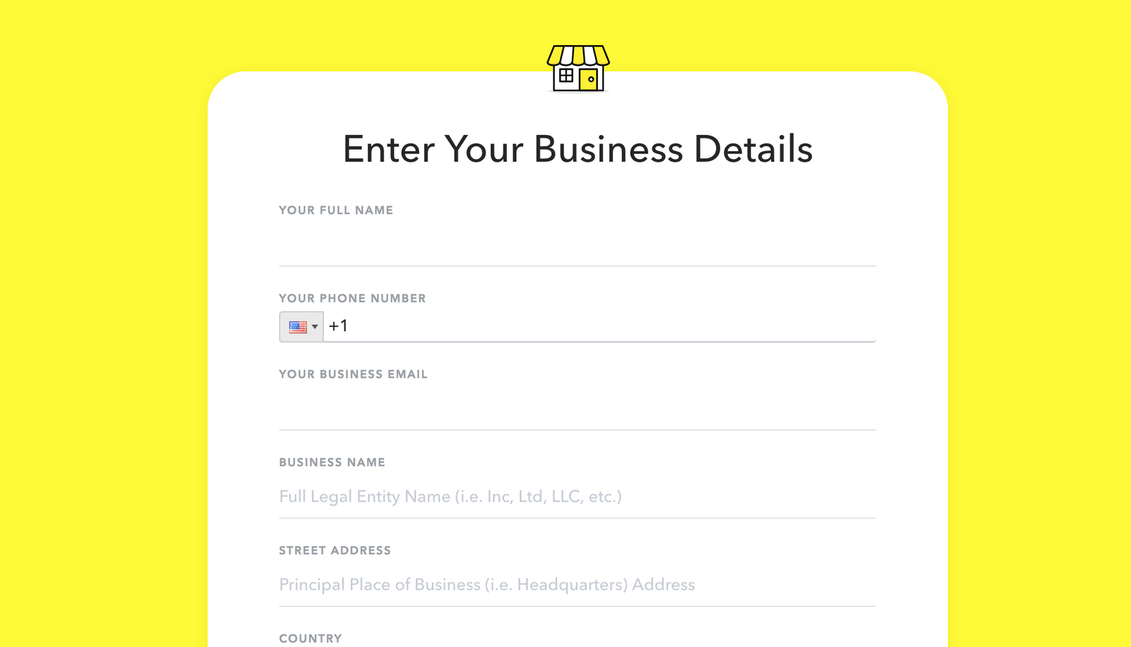 Sign up for Snapchat for Business