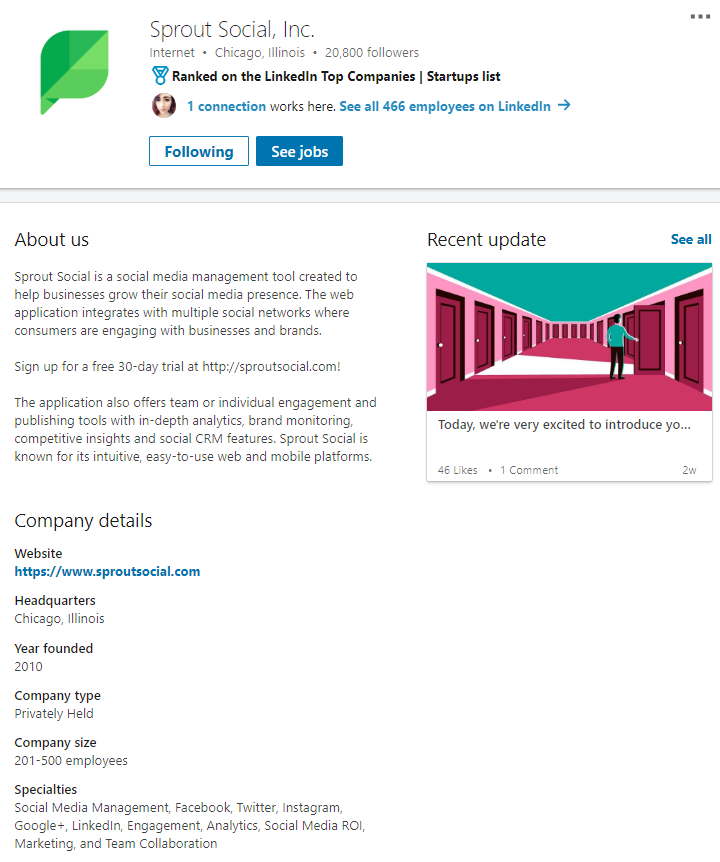 A complete profile makes it easier for visitors to find you on LinkedIn