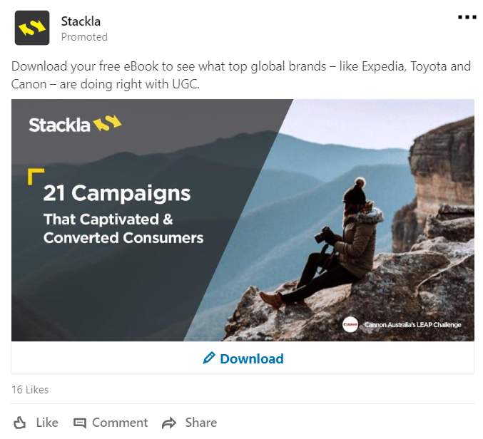 LinkedIn's sponsored content represents subtle ads that show up in your potential followers' feeds