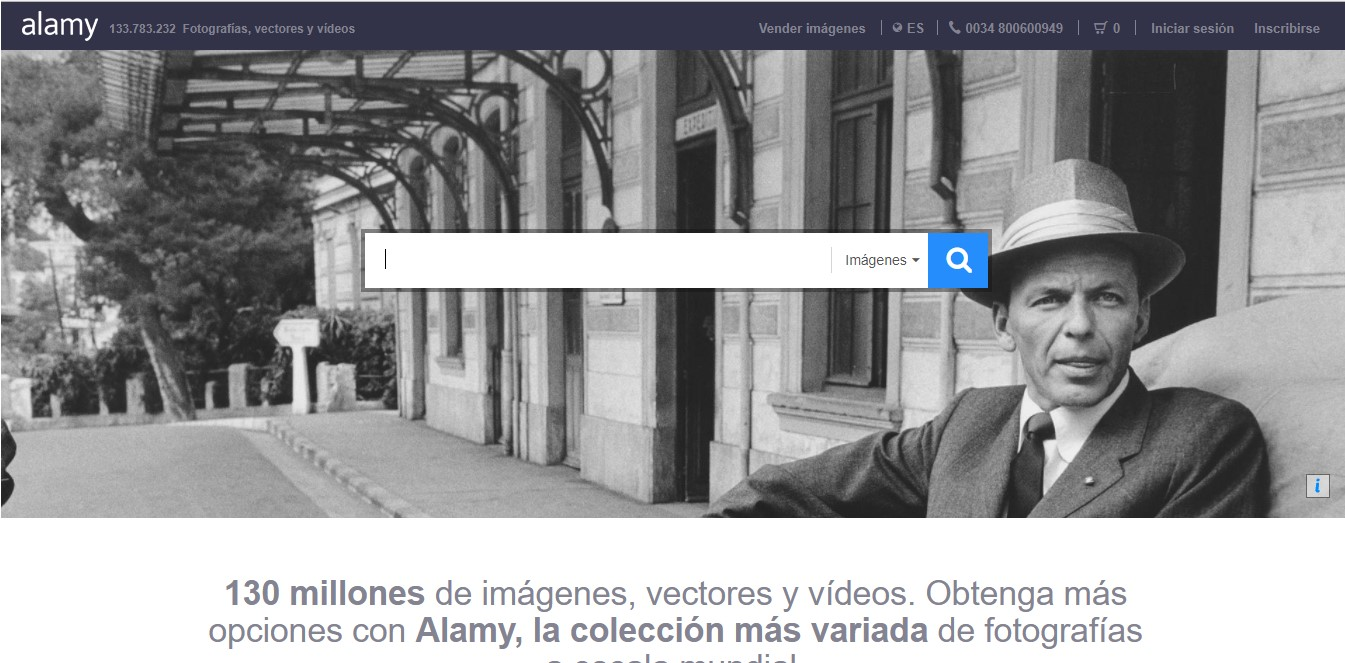 Página web de Alamy.