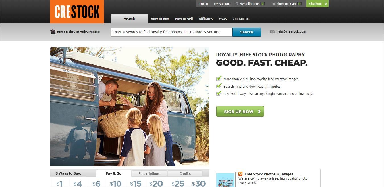 Página web de Crestock.