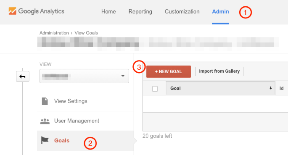 google analytics social media goals