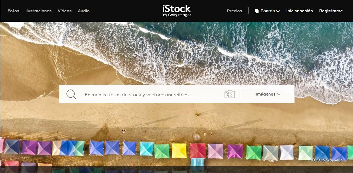 Página web de Istock.