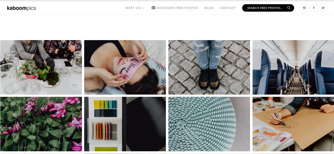 Página web de Kaboom Pics.