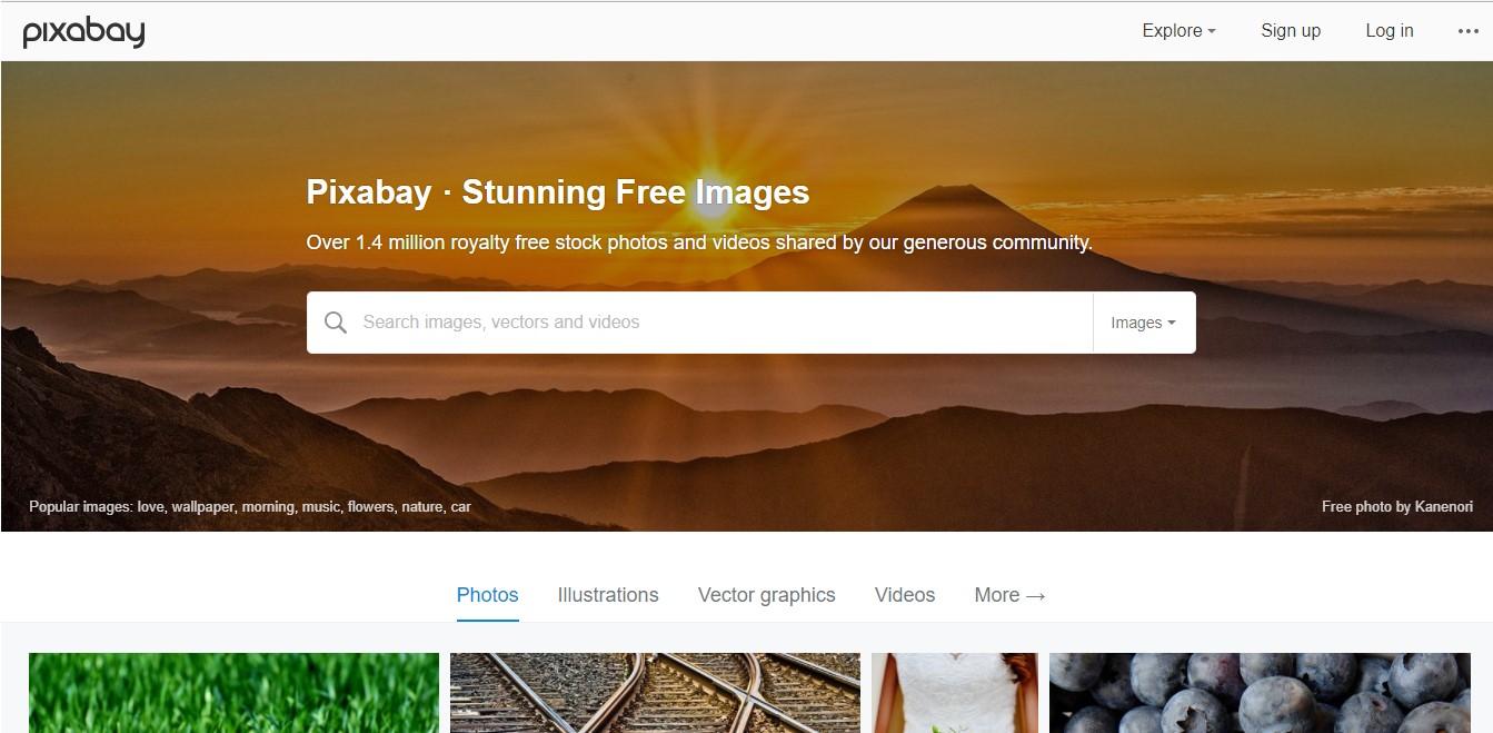 Página web de Pixabay.