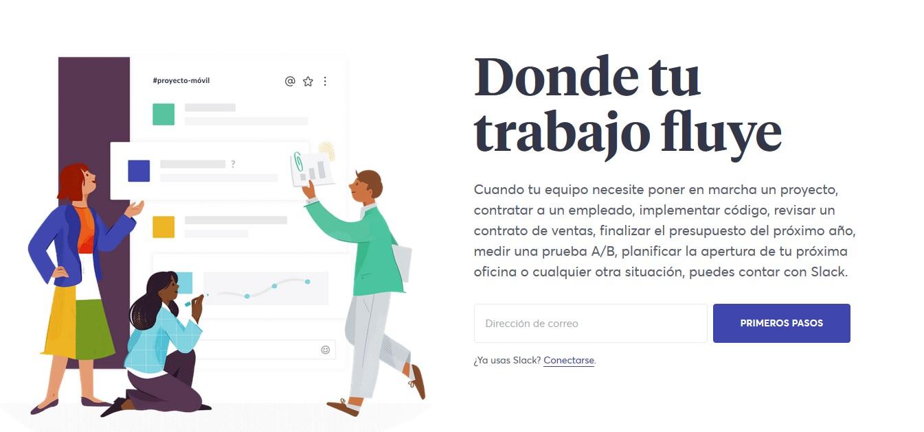 Página web de Slack.