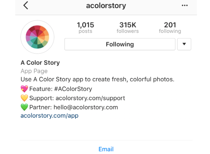 An optimized Instagram account includes relevant links, hashtags and a taste of your brand's mission