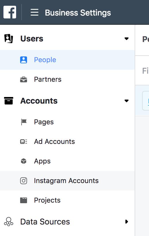 Instagram account in Facebook