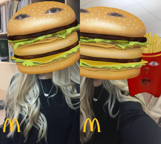 Filtros de Mac Donalds para Snapchat.