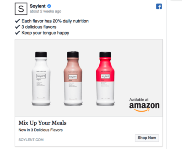 soylent facebook example