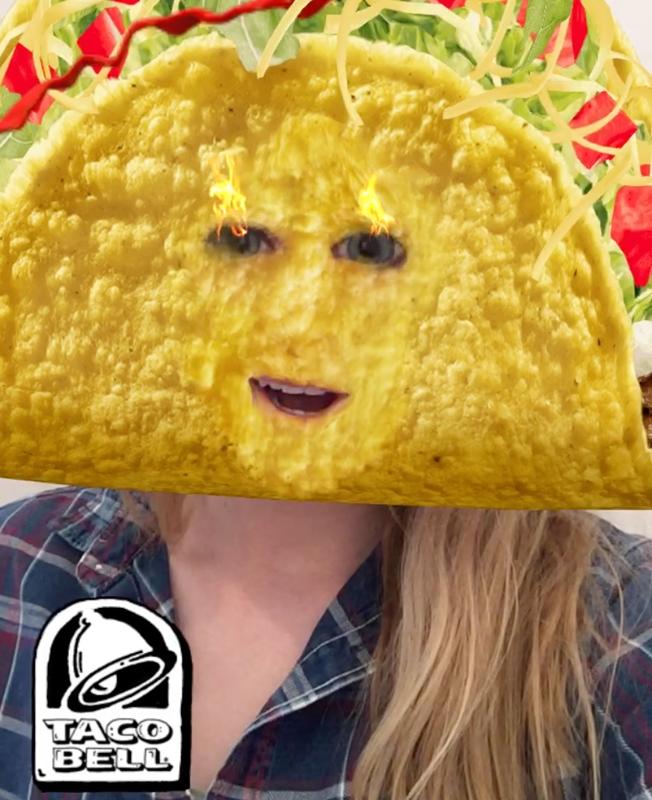Taco Bell Snapchat filter