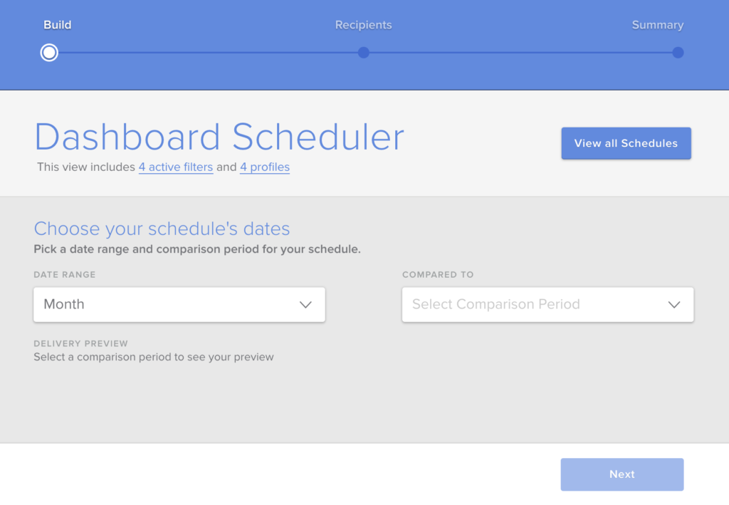 Dashboard Scheduler