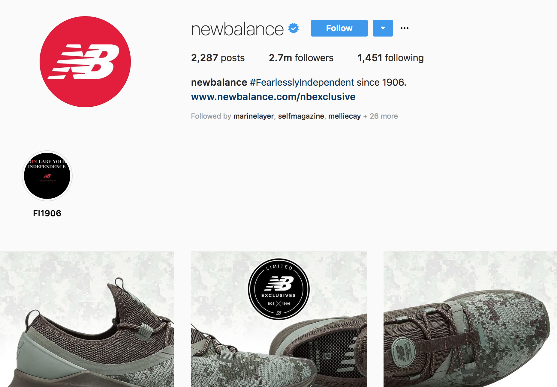 New Balance Instagram