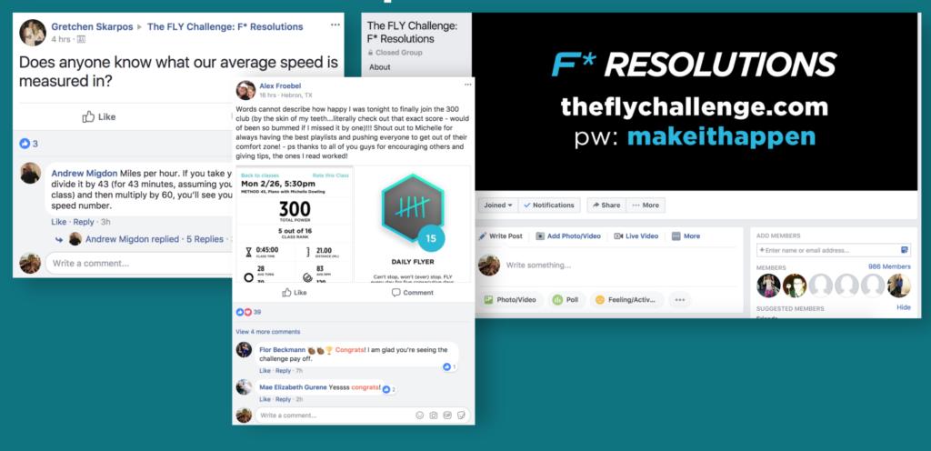 FlyChallenge Facebook examples