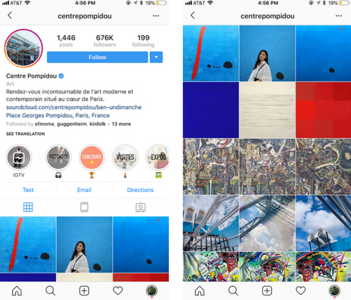 centre pompidou instagram page