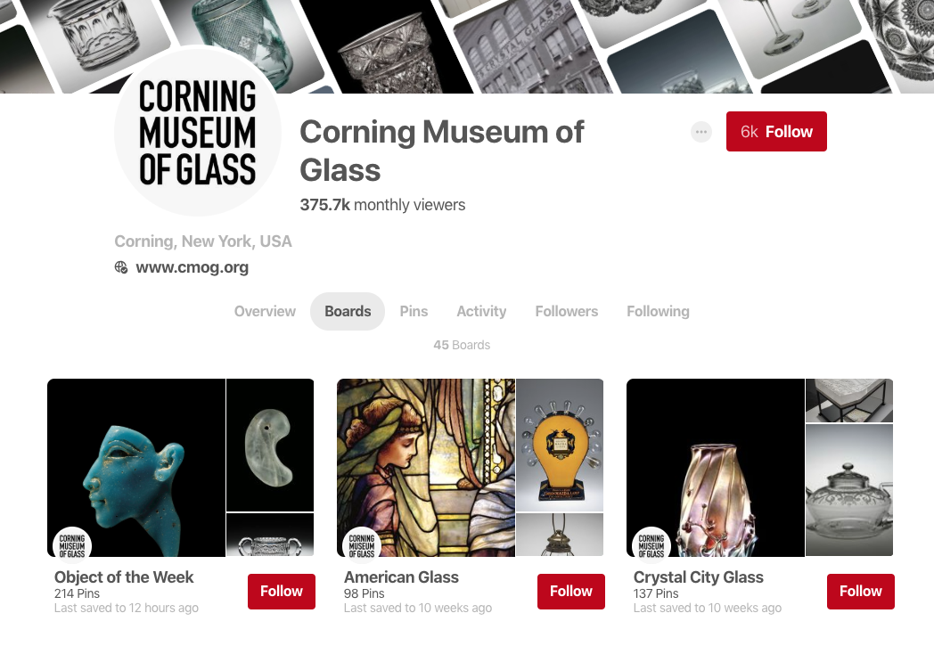 corning museum glass pinterest profile
