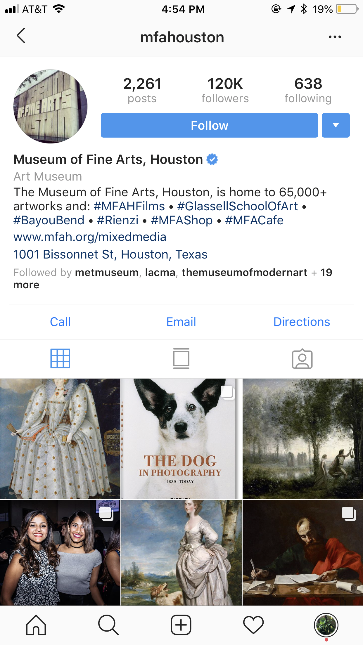 museum of fine arts houston instagram profile